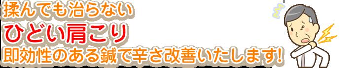 徳島市で五十肩でお悩みの方は坂口鍼灸整骨院・整体院へ!